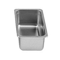 "Economy 24-Gauge 1/3 Size, 4"" Depth Steam Table Pan"