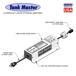Tank Master™ UV Tank Storage Sanitizers - One Lamp Units (Lamp Included)