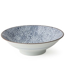 "Aizome Mum 9.75"" Serving Bowl"
