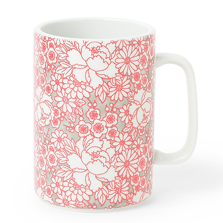 Mug 16 Oz. Yuzen Red