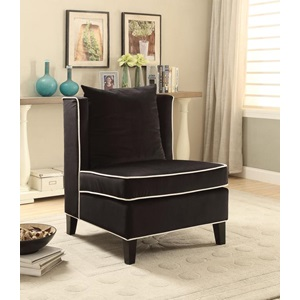 59576 BLACK ACCENT CHAIR