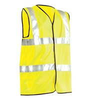 High Visibility Premium Solid Dual Stripe Full Vest