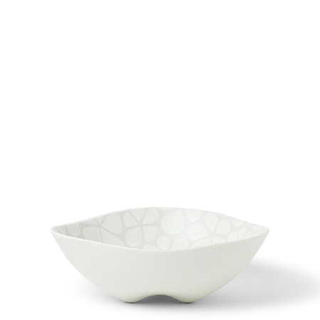 "GRAY FLORAL 6.5"" BOWL"