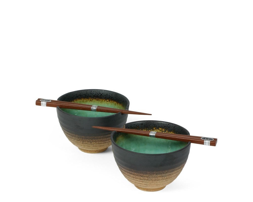 "Kosui Green 5.5"" Bowl For Two Set"
