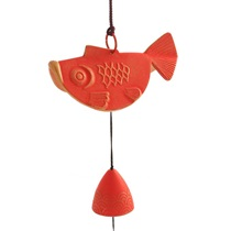 Wind Chime Goldfish Red/Gold 2-3/4""