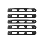 2007-18 Jeep JK Black Slot Style Door Handle Inserts.Set of 5
