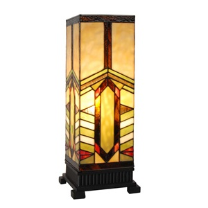 "17""H Mission Style Stone Mountain Pillar Uplight"