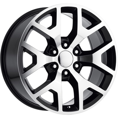 OE Replica 586 Series 24x10 6x139.7 - Machined/Black