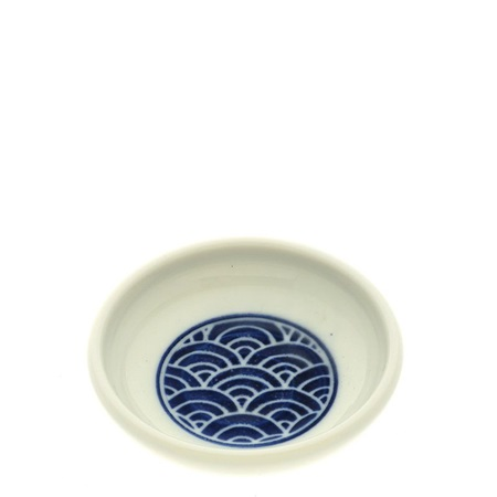 "Sauce Dish 3-1/4"" Blue Waves Mon"