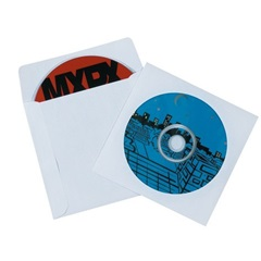 4-7/8 X 5 PAPER WINDOWED WHITE CD/DVD SLEEVES MM1170   500/CS