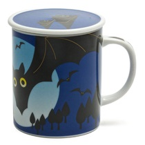 MIDNIGHT 8 OZ. LIDDED MUG - BAT