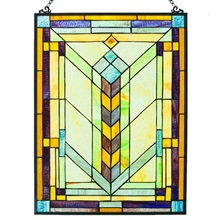 "24""H Mission Style Geometric Panel"