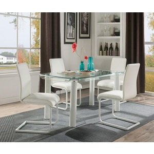 70260 GORDIAS WHITE DINING TABLE