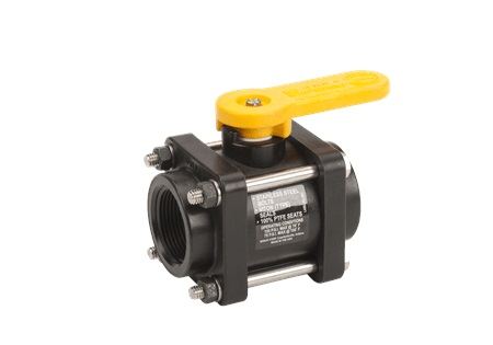 "1 1/4"" Banjo Standard Port Ball Valve - 4 Bolt - Polypropylene"