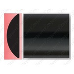"1"" Black Body Side Molding - Profile 2"