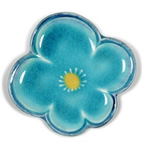 "Turquoise Blue Ume 4.5"" Plate"