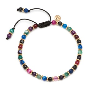 Lola Rose Notting Hill Bracelet, Dyed Persian Agate with Gold