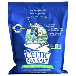 Celtic Sea Salt® Brand - Fine Ground (5 lb) - Front
