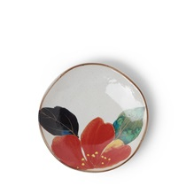 Floral Mini Plate Red