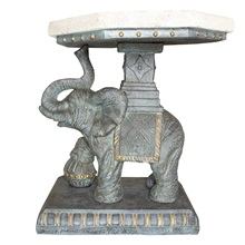 "25.75""H Majestic Elephant Side Table"