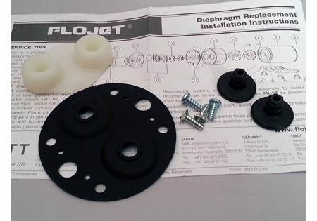 Flojet Viton and Polypropylene Diaphragm Kit