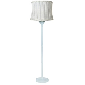 "59.5""H Outdoor Basketweave Floor Lamp"