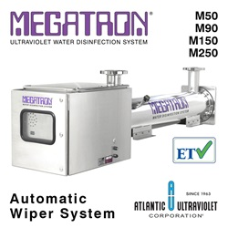 Megatron UV Water Disinfection 90–450 GPM Automatic Wiper