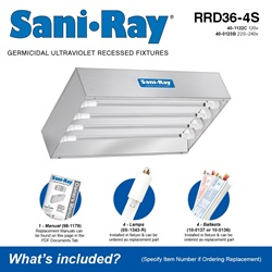 Sani•Ray RRD36-4S Included Accessories
