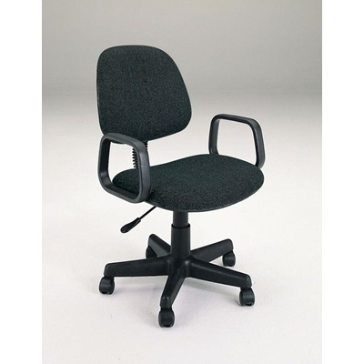 02221BK BLACK OFFICE CHAIR W/ARM