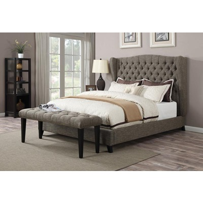 20900Q FAYE CHOCOLATE QUEEN BED