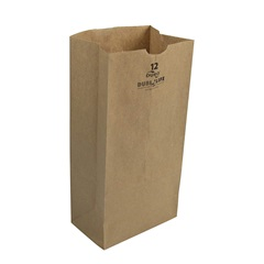 12# GROCERY BAG, 7-1/16 X 4-1/2 X 13-3/4, DURO