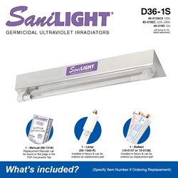 SaniLIGHT D36-1S Included Accessories