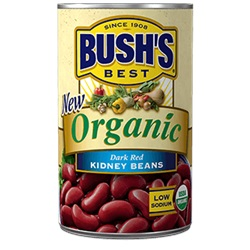 Bush's Organic Kidney Beans (Dark Red), 15oz