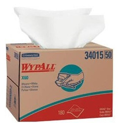 34015 KC WYPALL X60 WHITE WIPERS, 12.5 X 16.8,