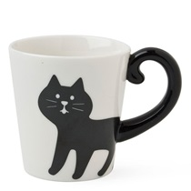 Cat Tail 10 Oz. Mug - Black