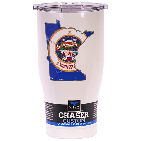Minnesota State Flag Distressed Chaser 27Oz