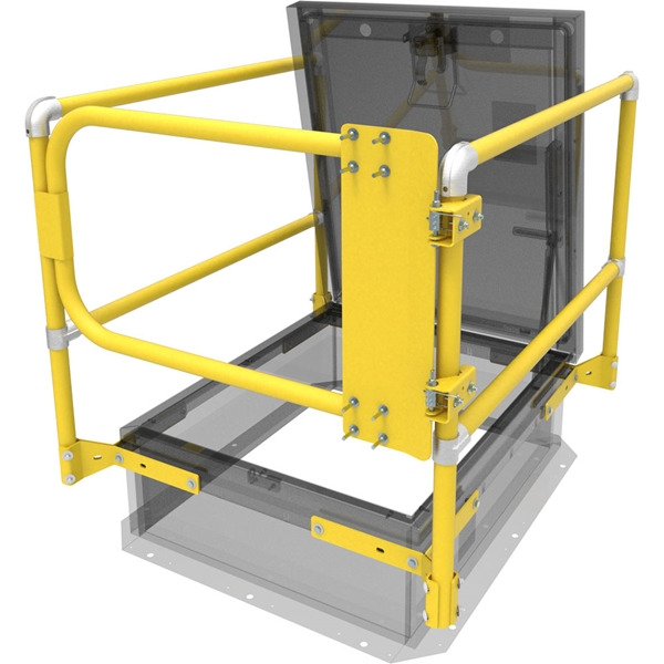 Safety Railing with Gate for Roof Hatch   Nystrom