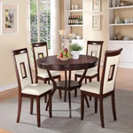 71604 WHITE 5PC PK DINING SET