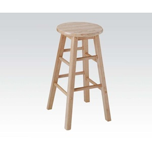 "02737N 24""H WOODEN STOOL/NATURAL"