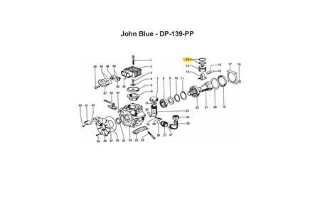 CDS John Blue Piston Ring for DP-139 Diaphragm Pump