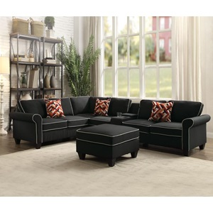 54240 MODULAR BLACK LOVESEAT