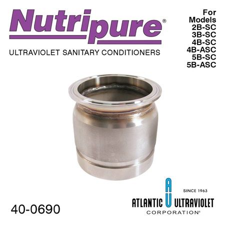 "Sanitary Adapter (3"") for the Nutripure 2B-SC through 5B-SC"