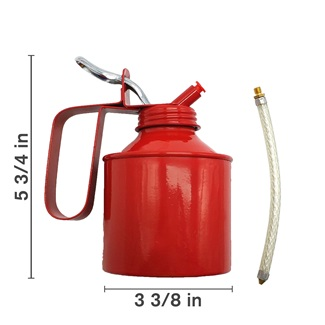 Red Oil Can, Pump Style, 500ml