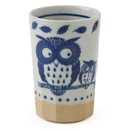 Blue Cup Owl 9 Oz