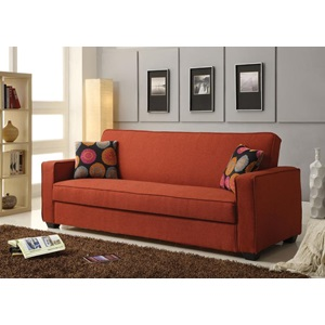 57072 RED LINEN ADJUSTABLE SOFA