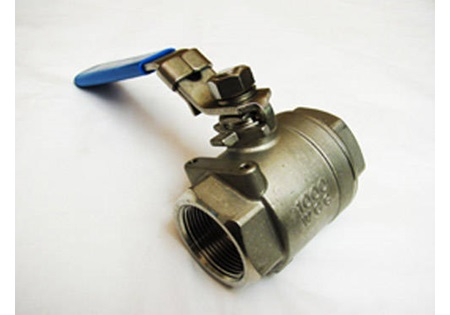 "1 1/4"" FPT Full Port Locking Handle Ball Valve - 316 SS"