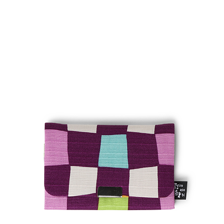 Card Holder Purple Panes