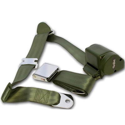 1964.5-73 Mustang 3-Point Seat Belt-Green