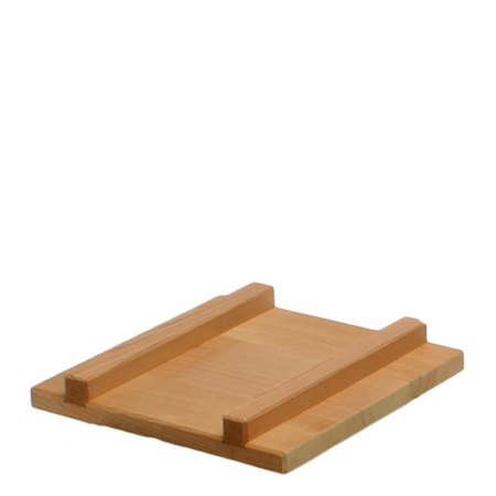 "EGG PAN COVER 9.5""sq WOOD 24cm"