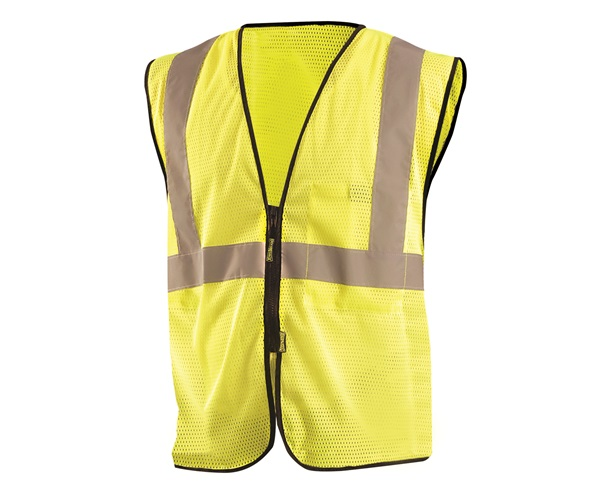 High Visibility Value Mesh Standard Zipper Safety Vest